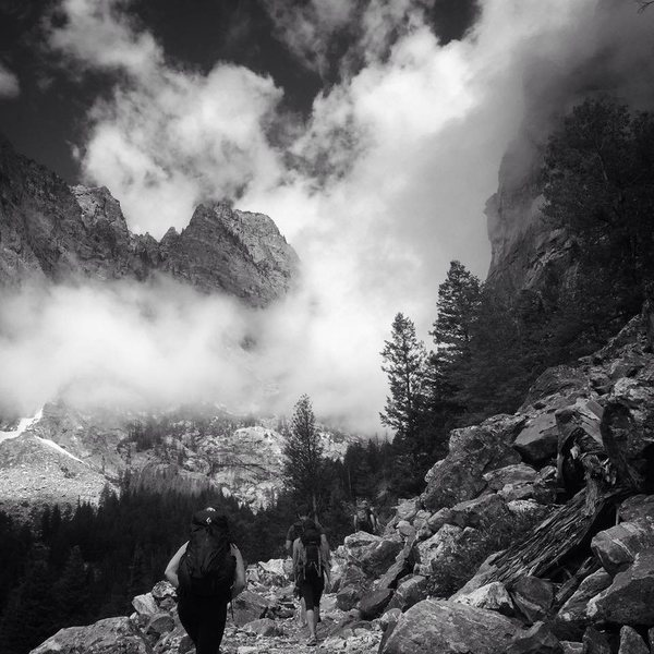 Approach at your own risk: Death Canyon-Teton National Park.