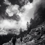 Rock Climbing Photo: Approach at your own risk: Death Canyon-Teton Nati...
