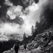 Rock Climbing Photo: Approach at your own risk: Death Canyon-Teton Nati...