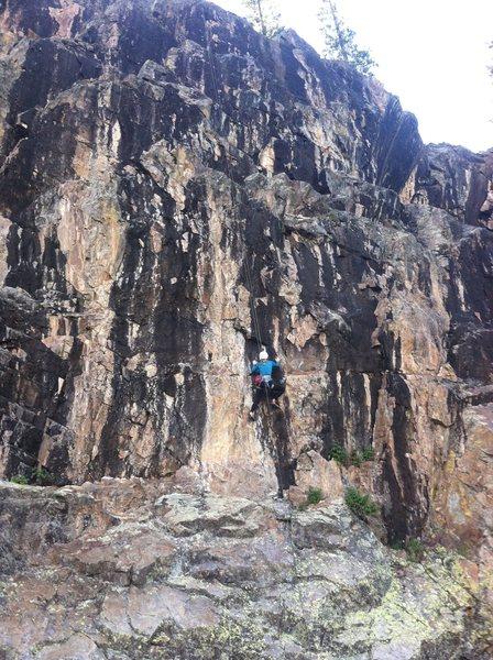 Rock Climbing Photo: Sydney Olson climbs through the crux of North Shor...