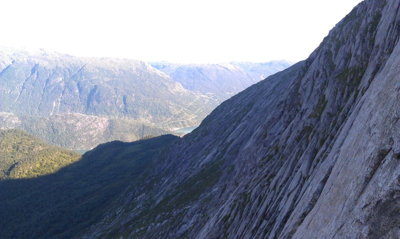 Rock Climbing Photo: View from the top of P5