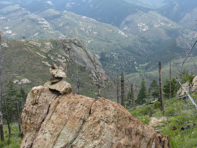 Rock Climbing Photo: Weathering Heights Dome, taken from near where you...