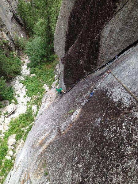 Rock Climbing Photo: Mercy street, 10-, squamish chief