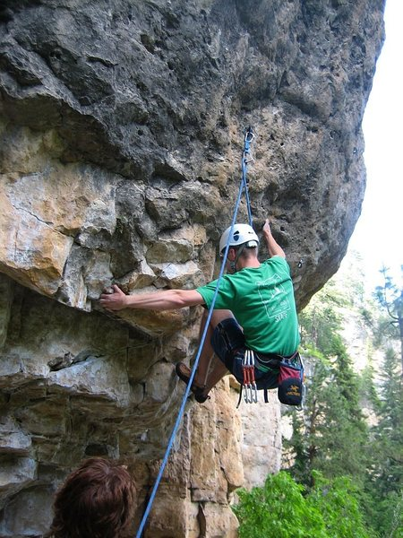 Rock Climbing Photo: Shot of me at the start of Lung Butter from spring...
