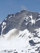 Rock Climbing Photo: Large rock fall on the south face of GIrls Mt.