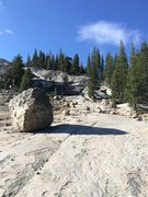 Rock Climbing Photo: Slab and boulders lead the way to Dark Side Dome. ...