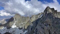 Rock Climbing Photo: Sill to Starlight from the base of Tbolt (23 July ...
