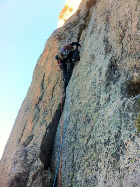 Rock Climbing Photo: First pitch of Astro Elephant
