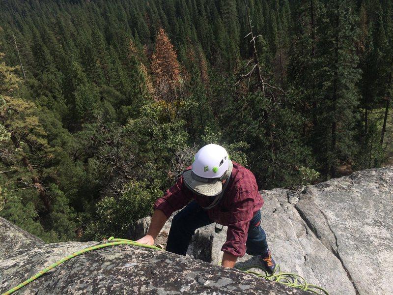 Rock Climbing Photo: Climbing with my cousin in Yosemite