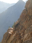 Rock Climbing Photo: Crag Dog free soloist on first pitch of Becky Rout...