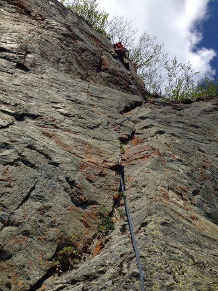 Rock Climbing Photo: Pete Lowney cruising.