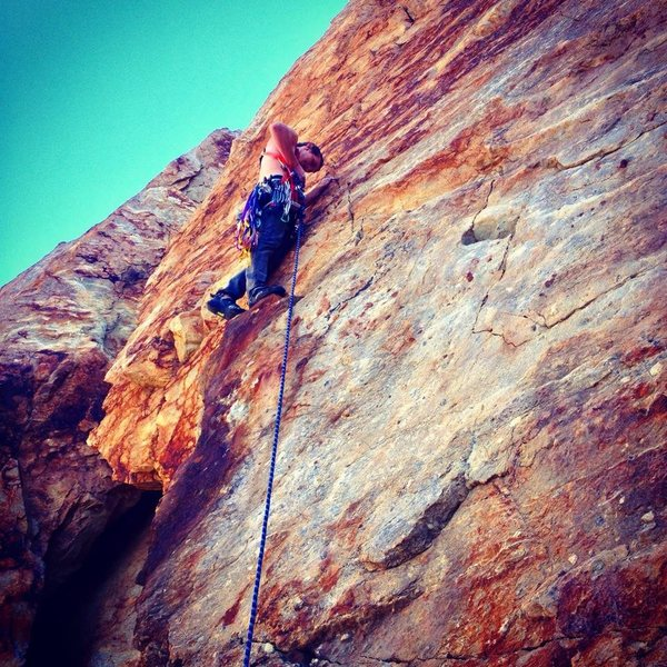 Rock Climbing Photo: Dynamite Crack (5.7) - Black Rose Area - Rock Cany...