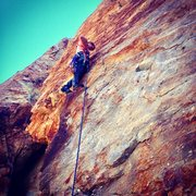 Rock Climbing Photo: Dynamite Crack (5.7) - Black Rose Area - Rock Cany...