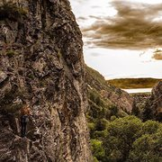 Rock Climbing Photo: .44 Caliber Killer (5.11b) - The Hidden Wall - Roc...