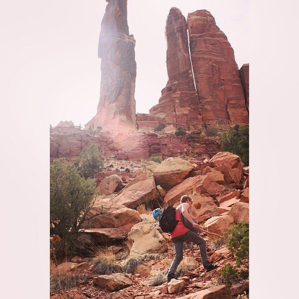 Thin Man Pinnacle (5.9 C1) - San Rafael Swell, Utah