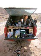 Rock Climbing Photo: Morning Camp - Moab Area - Utah