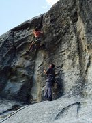 Rock Climbing Photo: About to send Expect No Mercy, East Window Rock, C...
