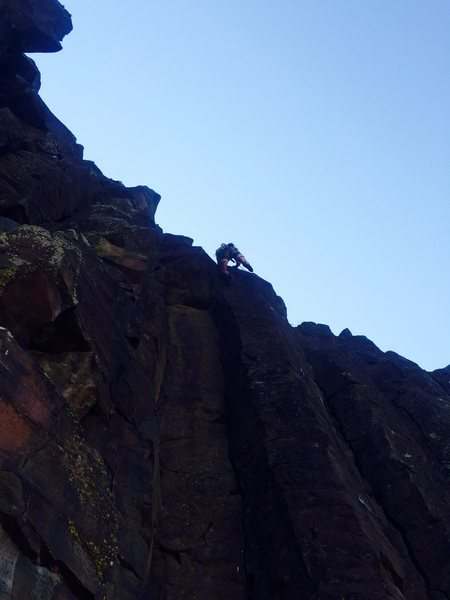 Rock Climbing Photo: Final dyno of Holiday in Cambodia, Black Cliffs, I...
