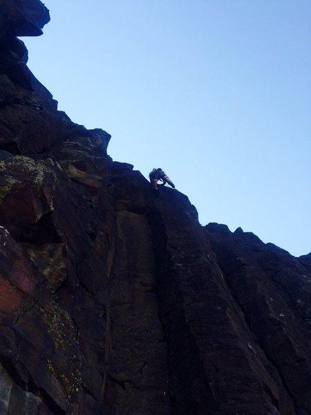 Final dyno of Holiday in Cambodia, Black Cliffs, Idaho