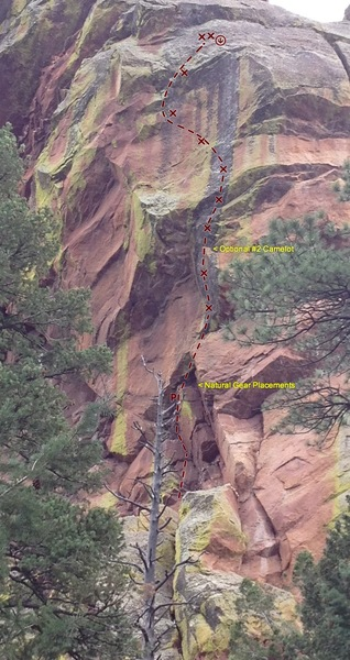 Rock Climbing Photo: streak route
