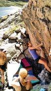 Rock Climbing Photo: Julia on her send of Mars Landing.