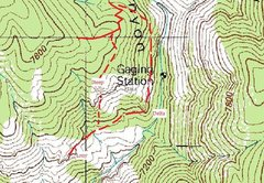 Rock Climbing Photo: Route to Charlie Dome and Lony Tusk.  NOT complete...