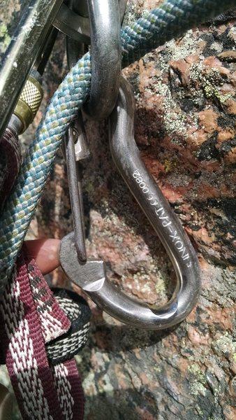 Rock Climbing Photo: Worn hooks. We used the rap rings.