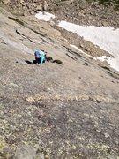 Rock Climbing Photo: Gina on P4. Super.
