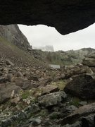 Rock Climbing Photo: Pingora getting hit with snow in July