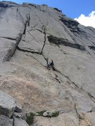 Rock Climbing Photo: East Face Left Cracks!! So fun!!