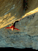 Rock Climbing Photo: Looking down The Groove pitch on The Shield.