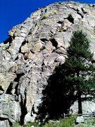 Rock Climbing Photo: Jacksons Wall/Cussin Crack, Castle Rock
