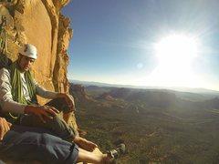 Rock Climbing Photo: Top of P4 on Sedona Scenic Cruise