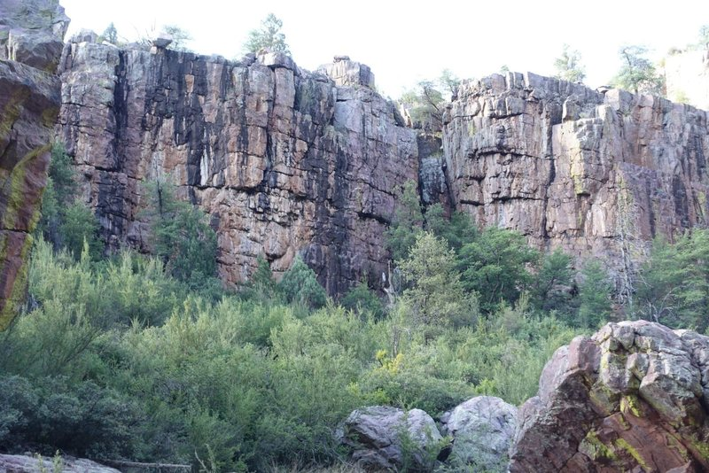 Rock Climbing Photo: Right side of memorial wall