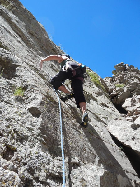 Rock Climbing Photo: Phyllie on the FA