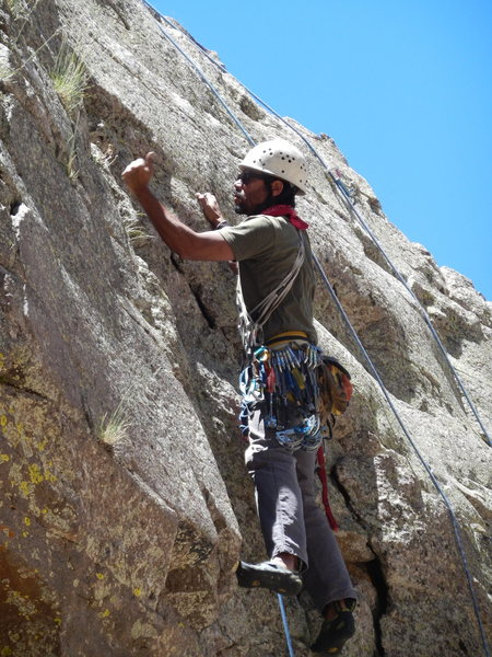 Rock Climbing Photo: It is a good practice to check the rock prior to m...