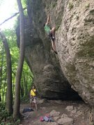 Rock Climbing Photo: Patrick just below 3rd bolt