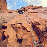 Rock Climbing Photo: Lunar X, pitch 8