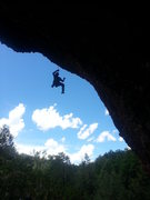Rock Climbing Photo: Showing the angle of the route