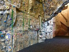 Rock Climbing Photo: A glimpse of our art walls! 15 Top ropes, one ceil...
