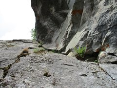 Rock Climbing Photo: A look at the second MJD pitch.  Photo by Steph Ab...