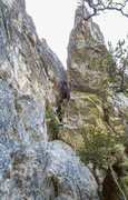 Rock Climbing Photo: Nic about to enter the crux while on the second as...