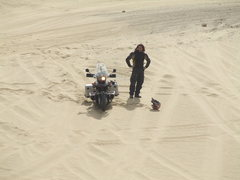 Rock Climbing Photo: stuck in the sand on the sahara desert.