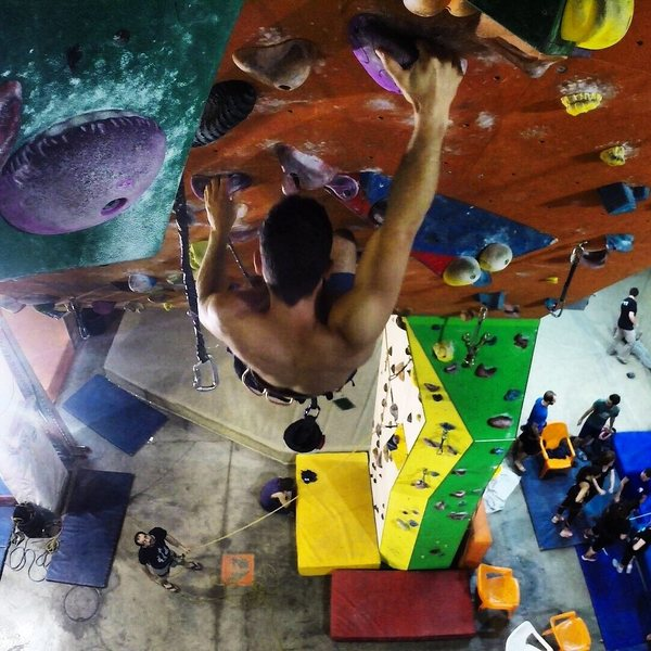 at the climb gym, jerusalem