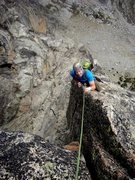 Rock Climbing Photo: Upper route.
