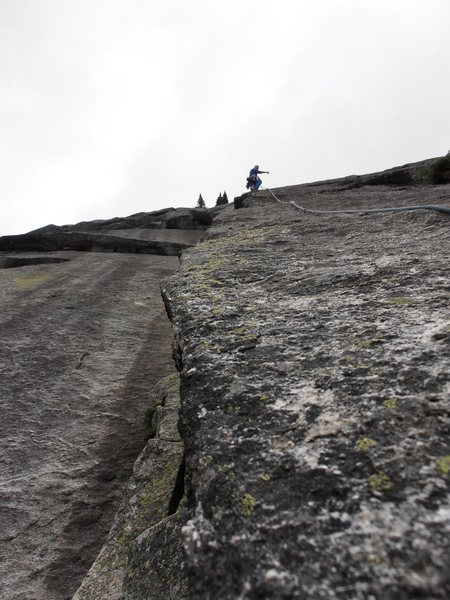 The Second pitch is arguably the best pitch. Sustained for over 100 feet with a distinct crux at 120 feet (18 bolts).