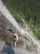 Rock Climbing Photo: Excellent stemming and jamming on the 2nd pitch.