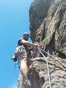 Rock Climbing Photo: Ben at Pitch 1 anchors