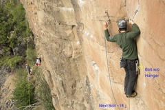 Rock Climbing Photo: Tenuous moment on Be Weir of the Dead - past the m...