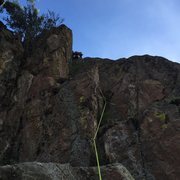 Rock Climbing Photo: This is the start of pitch 2. If you go left where...